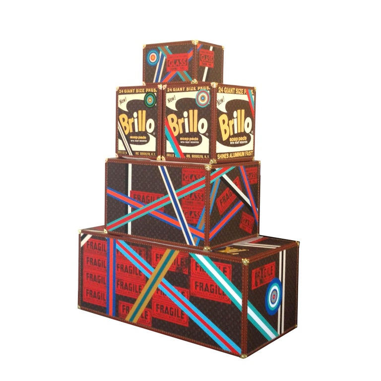 Epeius' Delight, Louis Vuitton Andy Warhol Multicolor Box Sculpture Charles Lutz For Sale 4