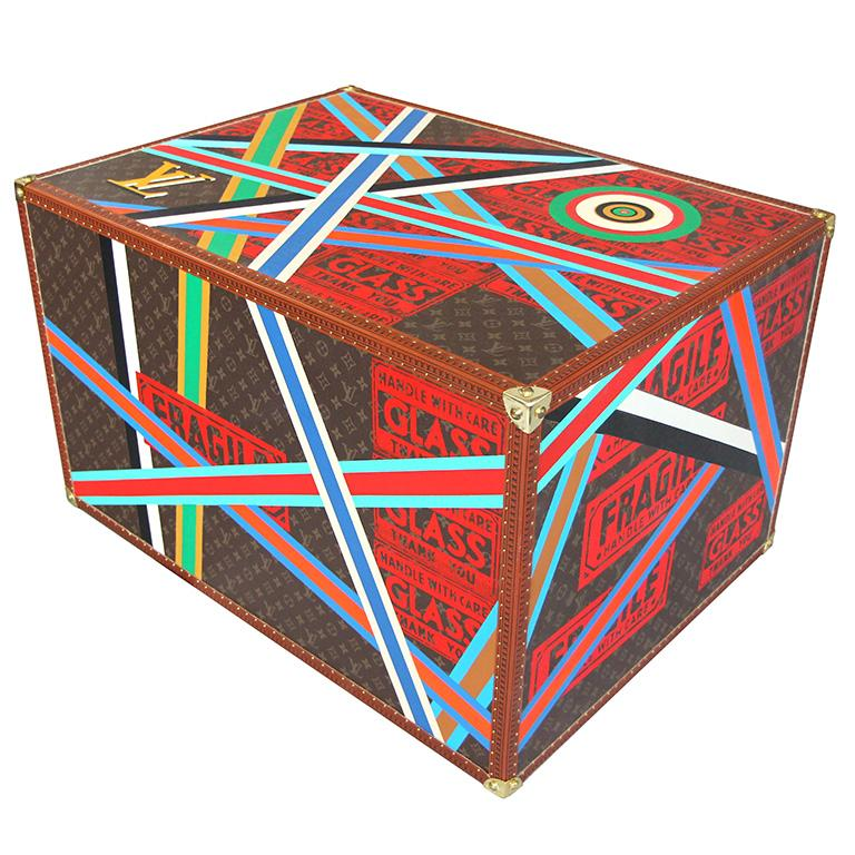 Epeius' Delight, Louis Vuitton Andy Warhol Multicolor Box Sculpture Charles Lutz - Brown Still-Life Sculpture by Charles Lutz