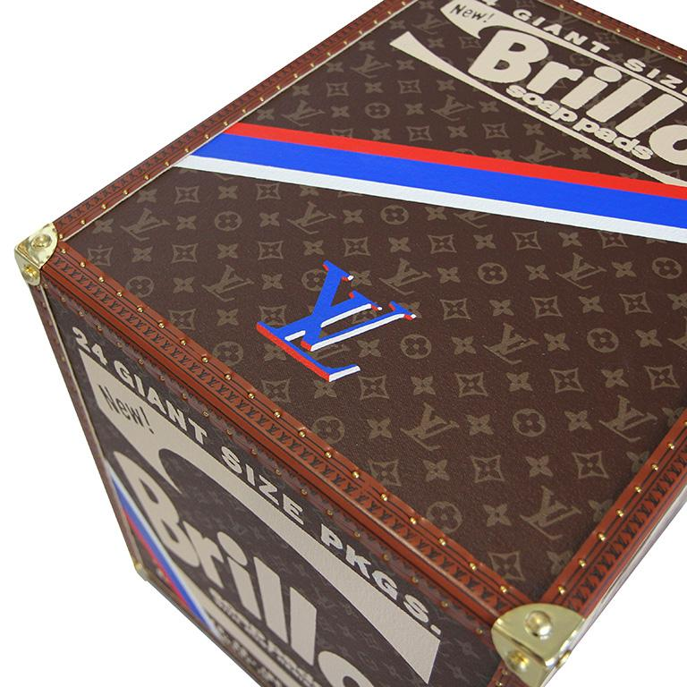 LV BRILLO ( RED BLUE WHITE ) Pop Art Louis Vuitton box sculpture by Charles Lutz For Sale 3