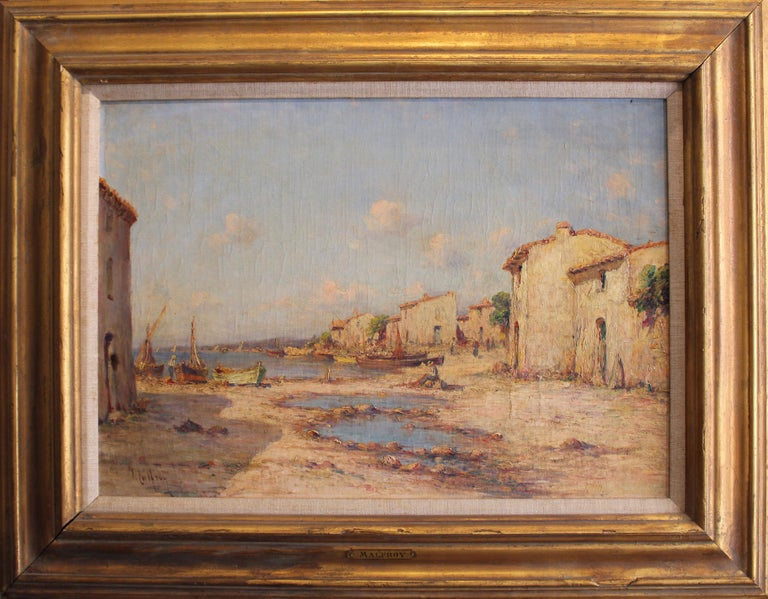 """Charles Malfroy """"Fishing Village"""" - Painting by Charles Malfroy"""