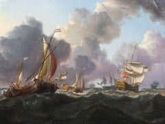 English Warships And Dutch Boats, 19th Century Charles Martin Powell (1775-1824)