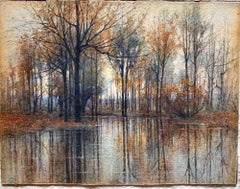 The Mirror of the Woods-Original Painting by Charles Melville Dewey-20th Century