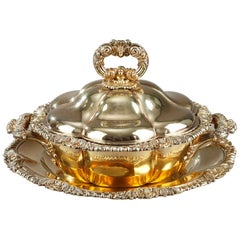 Charles Nicolas Odiot, Vermeil Oille Tureen, Mid-19th Century