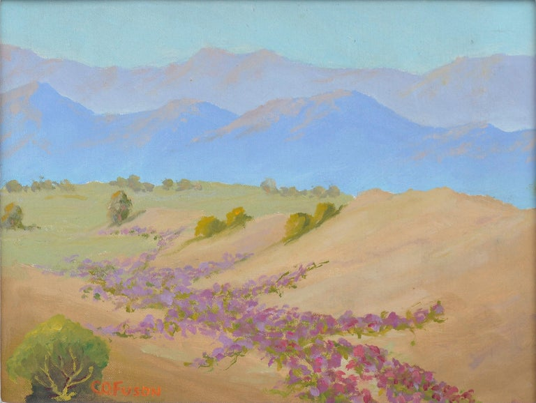 Warmth of the Desert Landscape - Painting by Charles O. Fuson
