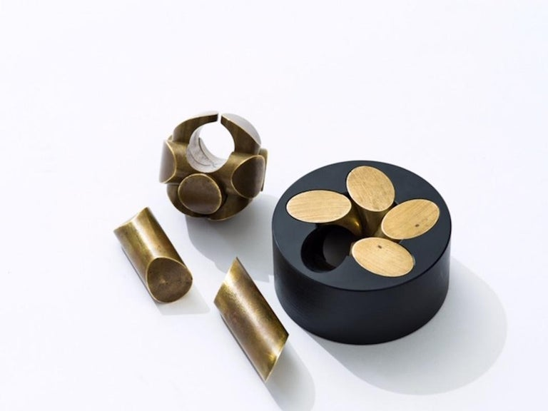 Charles O. Perry Sculptor Ball and Zen Precision Brass Puzzles 2