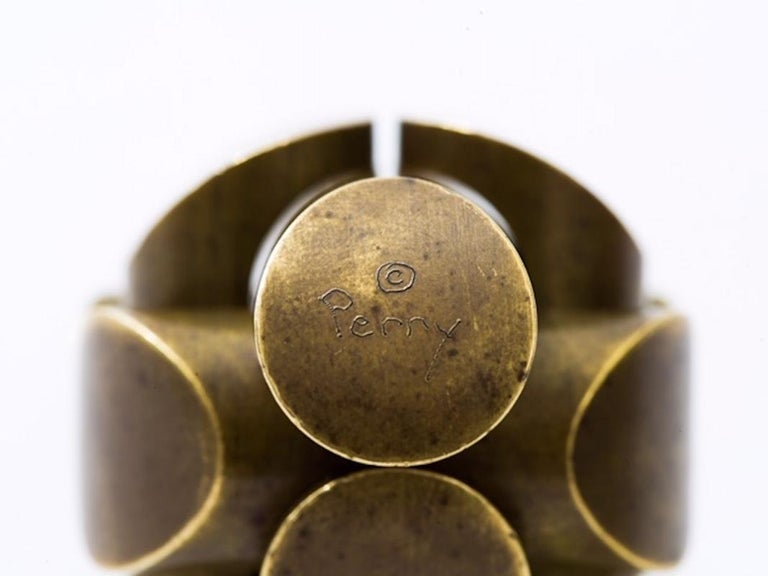 20th Century Charles O. Perry Sculptor Ball and Zen Precision Brass Puzzles