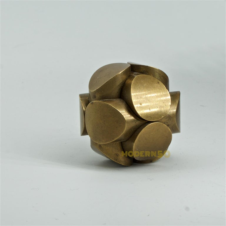 American Charles Perry Brass Mathematic Puzzle Sculpture Mid-Century MIT Interior Design For Sale