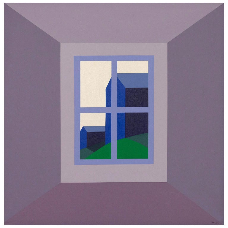 """Charles Pachter """"Oro Barns"""" - Painting by Charles Pachter"""