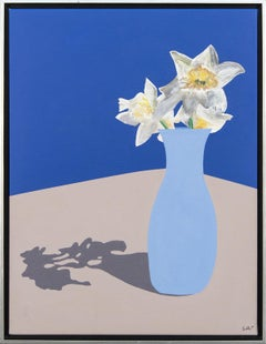 Daffodils - flowers, pop-art, spring, iconic, contemporary, acrylic on canvas