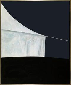 Night: The Canvas House - pop-art, minimalist, contemporary, acrylic on canvas
