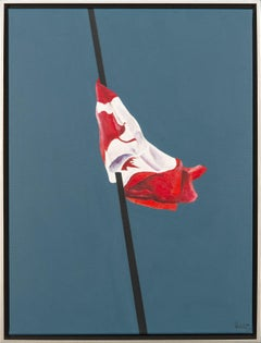 The Painted Flag - pop-art,  Canadiana, iconic, acrylic on canvas