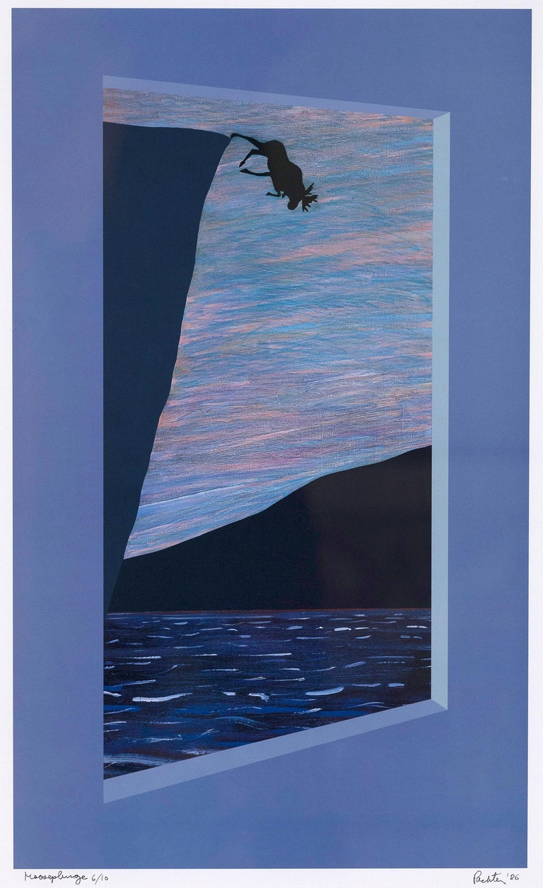 """Charles Pachter """"Moose Plunge"""" - Print by Charles Pachter"""