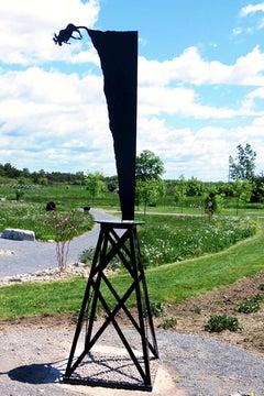 Moose Plunge (large) - tall, playful, pop art, Canadian, aluminum sculpture