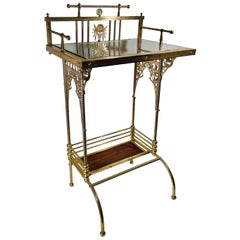 Charles Parker Aesthetic Movement Brass Telephone Table Stand, ca. 1880