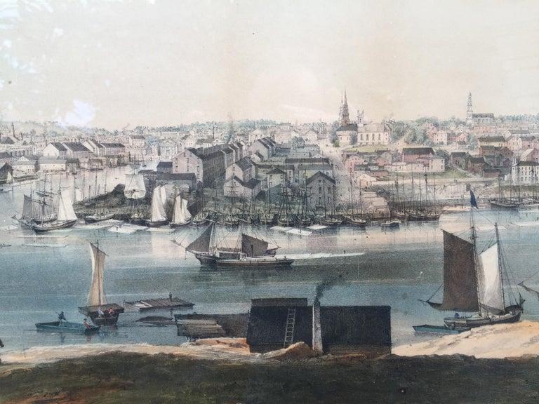 BANGOR, Me. 1854 - Very Large Bird's Eye View For Sale 1