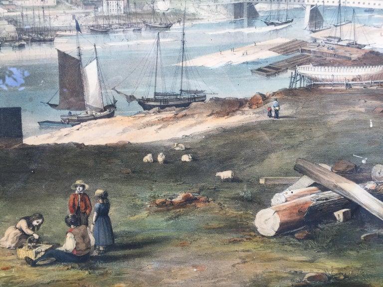 BANGOR, Me. 1854 - Very Large Bird's Eye View For Sale 2