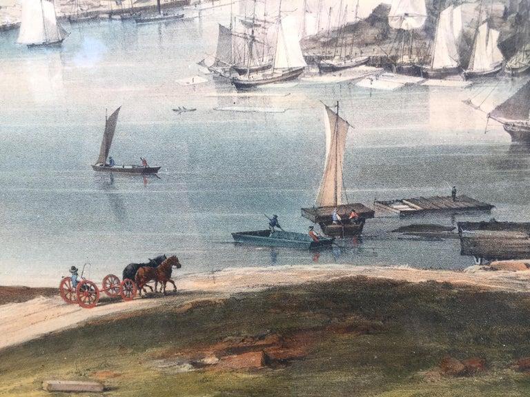 BANGOR, Me. 1854 - Very Large Bird's Eye View For Sale 3