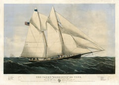 "The Yacht ""Henrietta"" 205 Tons. Modelled by Mr. Wm. Tooker, N.Y. Built by Mr. .."