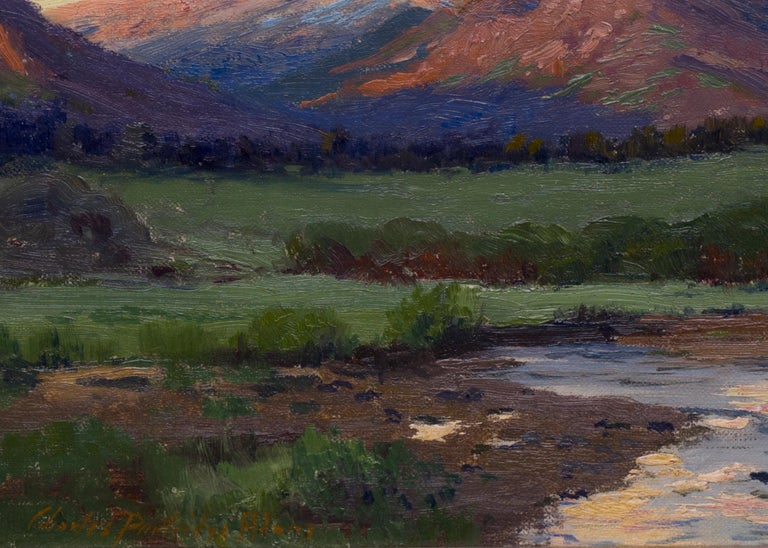 Untitled Landscape (Twilight over Longs Peak from near Estes Park, Colorado) - Brown Landscape Painting by Charles Partridge Adams
