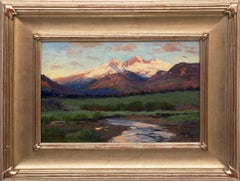Untitled Landscape (Twilight over Longs Peak from near Estes Park, Colorado)