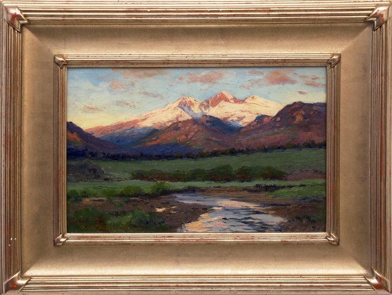 Charles Partridge Adams Landscape Painting - Untitled Landscape (Twilight over Longs Peak from near Estes Park, Colorado)