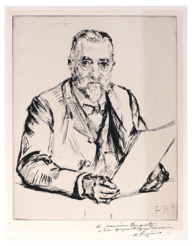 Charles Paul Renouard Portrait Print - Portrait d'un Homme - Etching and Drypoint by C.P. Renouard - Early 1900