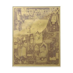 """""""The Pebworth Box"""" Modern Moody Gallery Gold Abstract Exhibition Poster"""