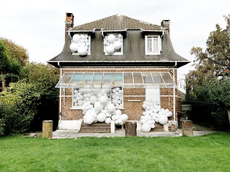 Charles Petillon  Landscape Photograph - Souvenirs de Famille, House, Landscapes, White Balloon,