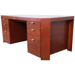Charles Pfister for Baker Art Deco Primavera Executive Desk, Newly Refinished