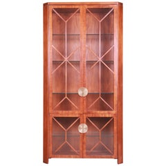 Charles Pfister for Baker Modern Art Deco Mahogany Display Cabinet or Bookcase