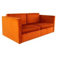 Charles Pfister for Knoll Mid Century Loveseat Settee Sofa