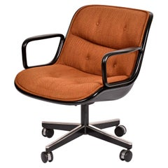 Charles Pollack for Knoll Orange Tweed Executive Chair w/ Height Tension Knob