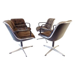 Charles Pollock Chairs for Knoll International, Set of 4