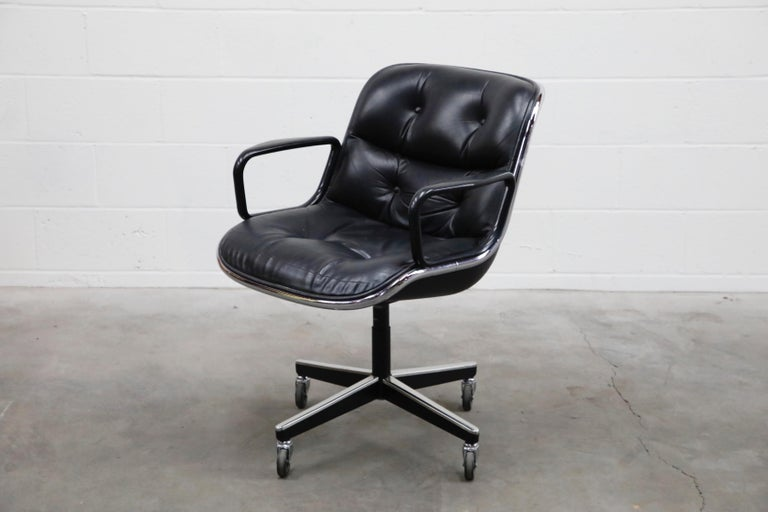 Charles Pollock for Knoll International Executive Desk Chair, Signed 1985 For Sale 1