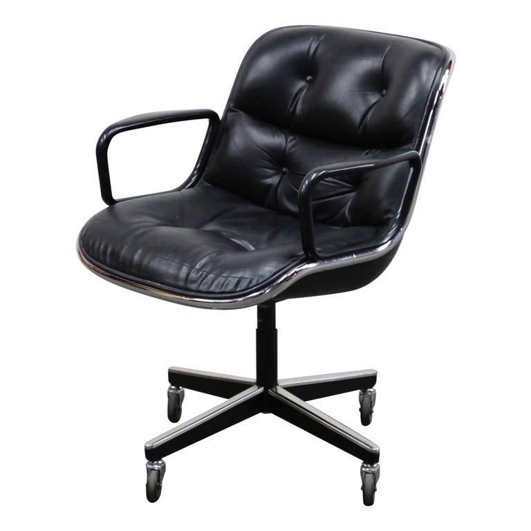Charles Pollock for Knoll International Executive Desk Chair, Signed 1985 For Sale