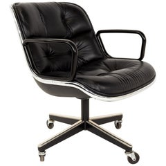 Charles Pollock for Knoll Mid Century Wheeled Office Desk Chair