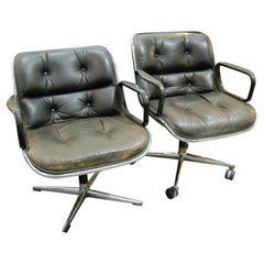 """Charles Pollock, Knoll Two Black """"executive chairs"""""""