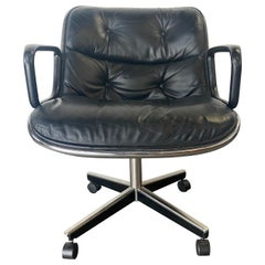 Charles Pollock Leather Desk Chair for Knoll