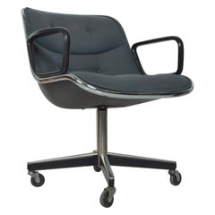 Charles Pollock Office Chair for Knoll with Upholstery Mid-Century Modern