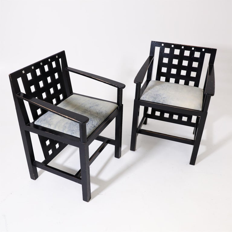 Charles R. Mackintosh, D.S.4 Armchairs for Cassina, after 1975 For Sale 2