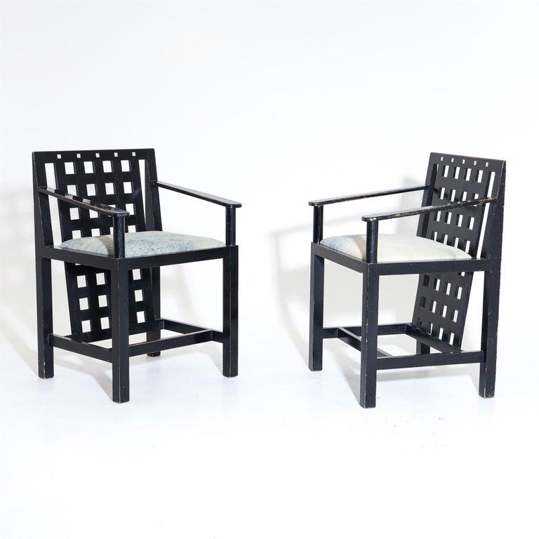 Italian Charles R. Mackintosh, D.S.4 Armchairs for Cassina, after 1975 For Sale