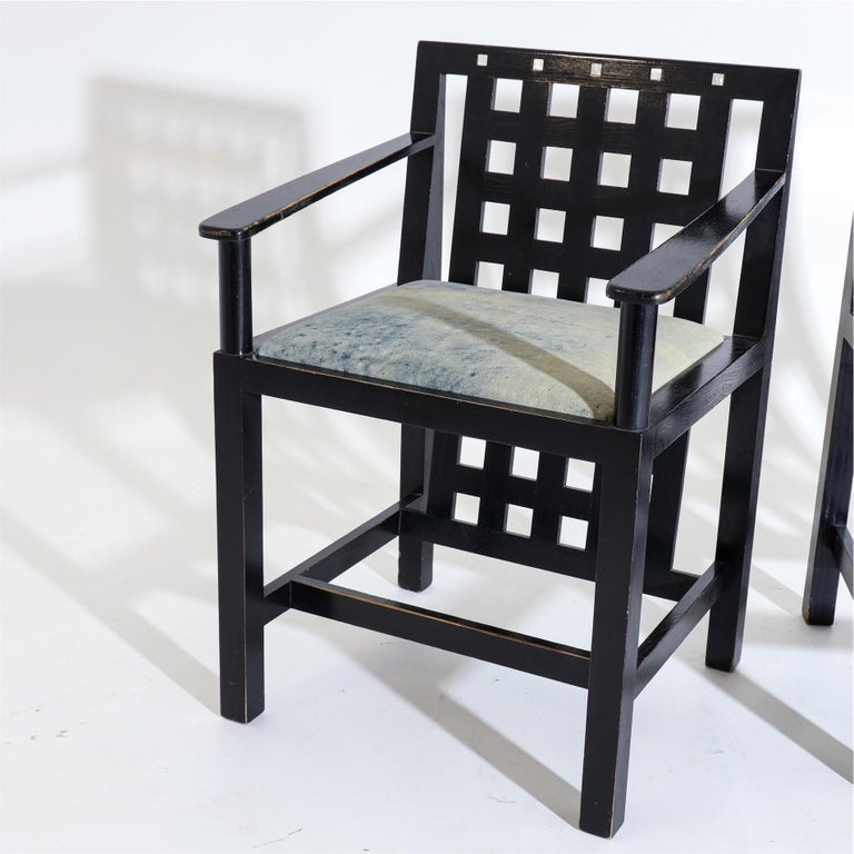 Charles R. Mackintosh, D.S.4 Armchairs for Cassina, after 1975 In Good Condition For Sale In Greding, DE