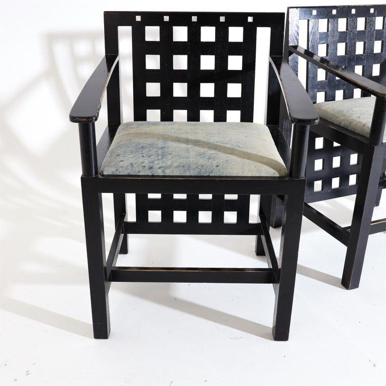 20th Century Charles R. Mackintosh, D.S.4 Armchairs for Cassina, after 1975 For Sale