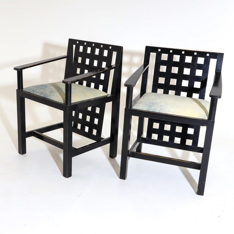 Wood Charles R. Mackintosh, D.S.4 Armchairs for Cassina, after 1975 For Sale