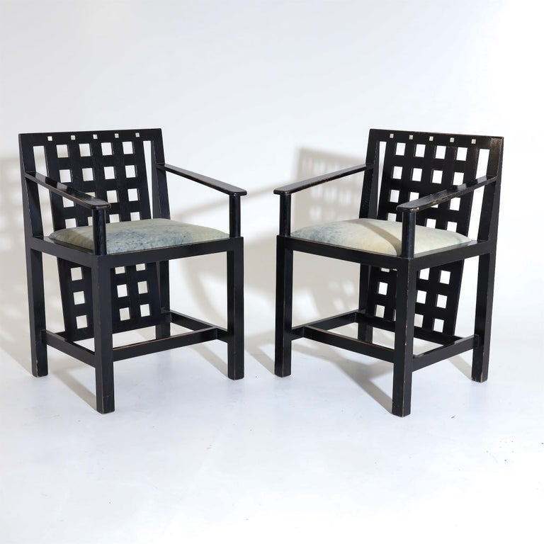 Charles R. Mackintosh, D.S.4 Armchairs for Cassina, after 1975 For Sale 1
