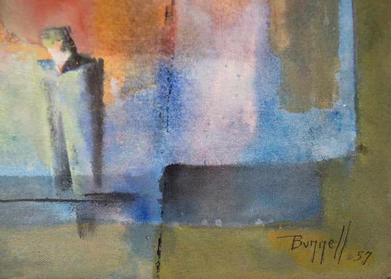 Man Alone (Abstract Expressionist Composition) For Sale 2