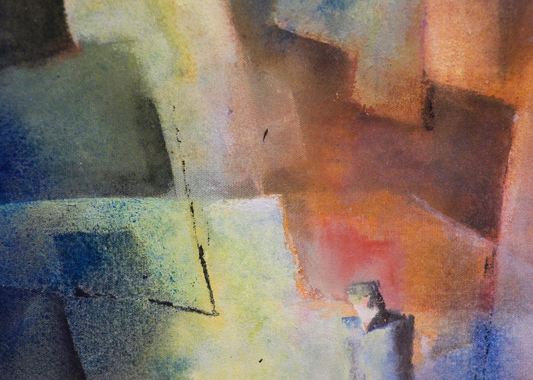 Man Alone (Abstract Expressionist Composition) For Sale 3