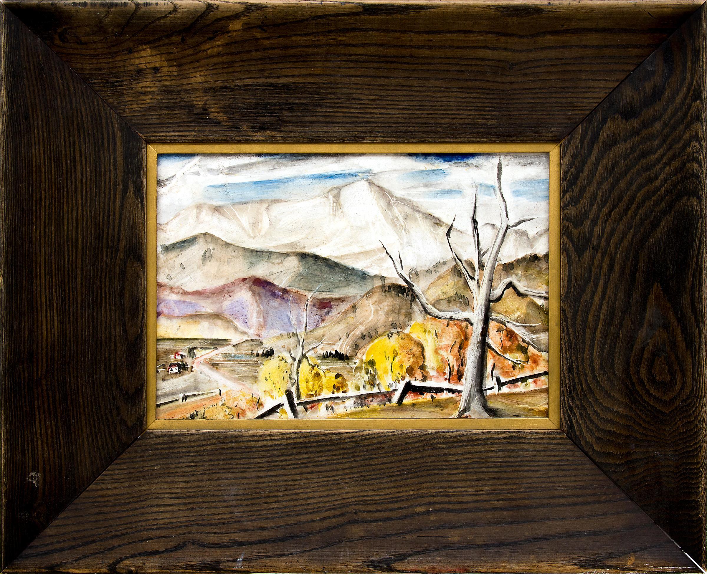 Pikes Peak (Vintage 1930s Colorado Mountain Landscape in Autumn)