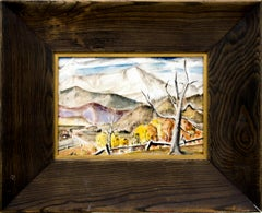 Pikes Peak (Vintage 1930s Colorado Mountain Landscape in Autumn)