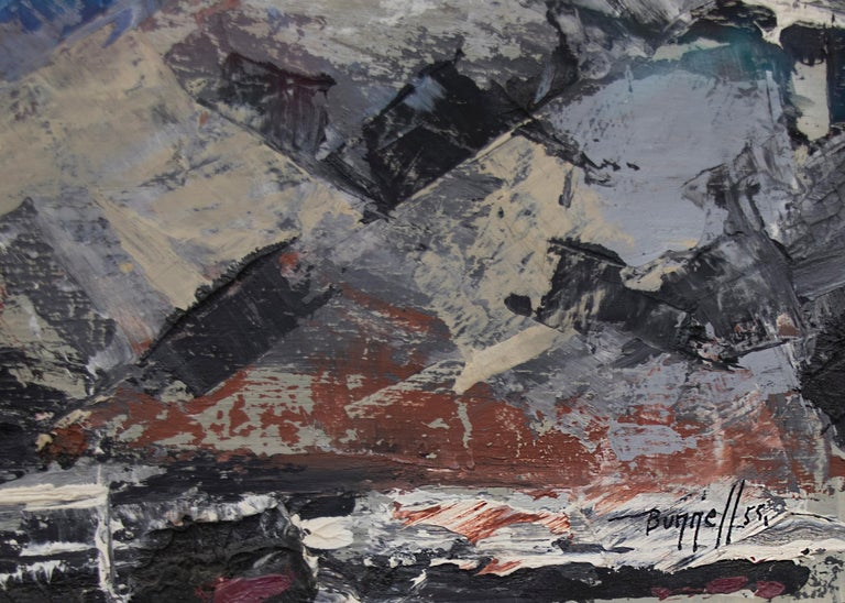 Untitled (Colorado Mountains) - Painting by Charles Ragland Bunnell